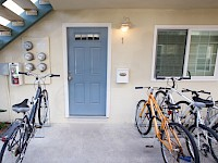 Unit #1 Front door and bike racks